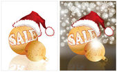 Christmas sale. Two banners. vector illustration — Vector de stock