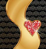 Liebe Einladungskarte, vector illustration — Stockvektor