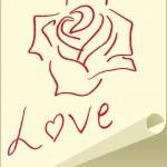 Love card, vector illustration — Stock Vector