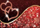 Cartão de amor dia dos namorados, ilustração vetorial — Vetor de Stock