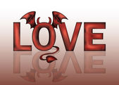 Devil love. vector illustration — Stock Vector