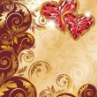 Love card for valentines day or wedding, vector - 图库矢量图片