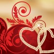 Valentines day banner, vector illustration — Imagen vectorial