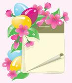 Easter calendar with eggs, vector illustration — Stock Vector