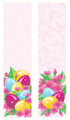 Two easter banner, vector illustration — Stock Vector