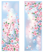 Spring banners. vector illustration — Stock Vector