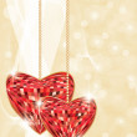 Wedding love card, vector illustration — Stock Vector