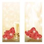 twee liefde huwelijk banners, vector — Stockvector