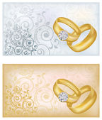 Two wedding banners, vector illustration — Stock Vector