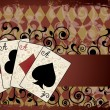 Casino background with poker cards, vector illustration — Vector de stock #9364474