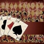 Casino van achtergrond met pokerkaarten, vectorillustratie — Stockvector