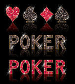 Diamond poker elementen, vector illustratie — Stockvector
