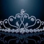 Beautiful diamond diadem, vector illustration — Stock Vector