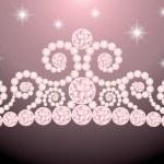 Beautiful wedding diadem , vector illustration — Stock Vector