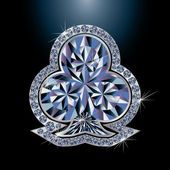 Clubes de poker tarjeta del diamante, vector illustration — Vector de stock