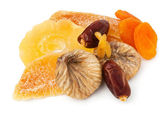 Mixed dry fruits heap — Stock Photo
