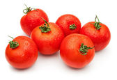 Six tomatos — Stock Photo