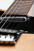 Strings on a guitar — Stock Photo