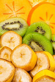 Tropikal meyve dilimlenmiş — Stok fotoğraf