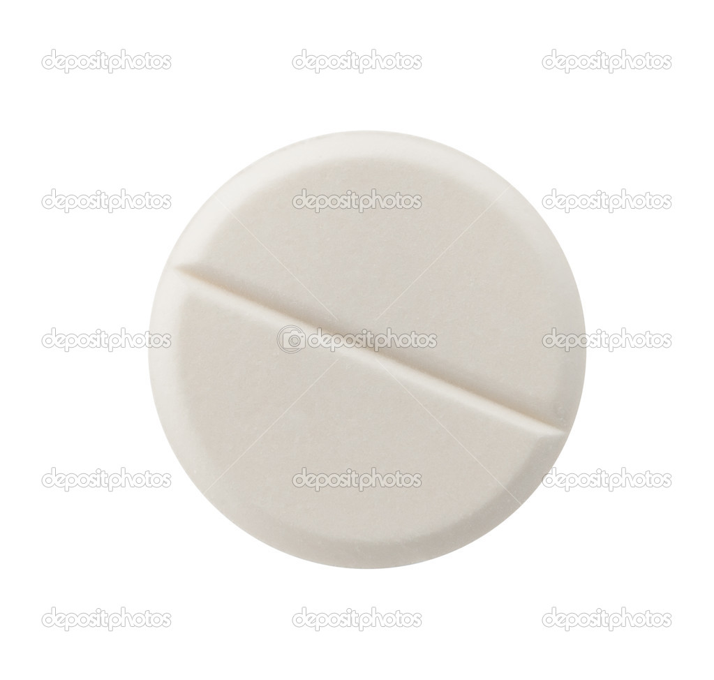 Single pill against white background — Stock Photo #9035152