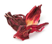 Dried hibiscus tea petals — Stock Photo