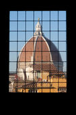 Framed view of the Duomo cathedral in Florence, Italy — Stock Photo