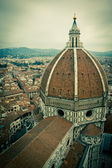 Top view of Duomo cathedral in Florence, Italy — Stock Photo