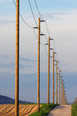 Power cable lines — Stock Photo
