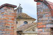 Hrad výraz vigoleno. emilia-romagna. itálie. — Stock fotografie