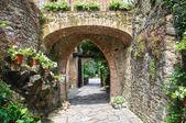 Gropparello hrad. emilia-romagna. itálie. — Stock fotografie