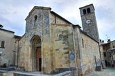 Parish church of St. Giorgio. Vigoleno. Emilia-Romagna. Italy. — Stock Photo