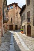 Alleyway. Castell'arquato. Emilia-Romagna. Italy. — Foto de Stock