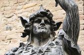 Statue en bronze. grazzano visconti. émilie-romagne. italie. — Photo