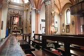 St. Brigida interior church. Piacenza. Emilia-Romagna. Italy. — Stock fotografie