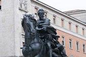 Alessandro farnese staty. piacenza. emilia-romagna. italien. — Stockfoto