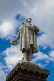 Cristoforo Colombo Statue. Bettola. Emilia-Romagna. Italy. — Stock Photo
