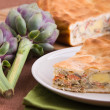 Artichoke Pie. - Stock Photo