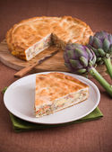 Artichoke Pie. — Stock Photo