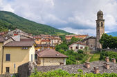 Panoramic view of Bardi. Emilia-Romagna. Italy. — Stock Photo