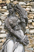 Marble statue. Castle of Compiano. Emilia-Romagna. Italy. — Stock Photo