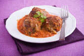 Meatballs in tomato sauce. — Stock Photo
