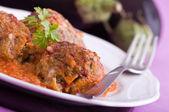 Aubergine köttbullar. — Stockfoto