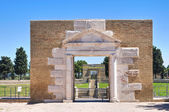 Anfiteatro de lucera. puglia. italia. — Foto de Stock