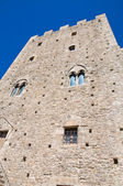 Norman tower. Pietramontecorvino. Puglia. Italy. — Foto de Stock