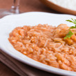 Shrimp risotto. — Stock Photo