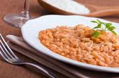 Shrimp risotto. — Stock Photo