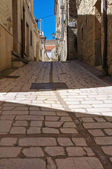 Alleyway. Pietramontecorvino. Puglia. Italy. — Stock Photo