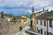 Panoramic view of Compiano. Emilia-Romagna. Italy. — Stock Photo