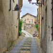 Stock Photo: Alleyway. Compiano. Emilia-Romagna. Italy.