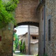 Stock Photo: Alleyway. Torrechiara. Emilia-Romagna. Italy.